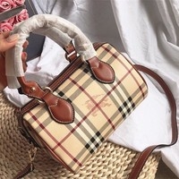 Burberry Vintage Check Satchel Crossbody Handbag Shoulder Bag