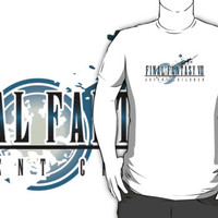 #td Final Fantasy VI Advent Children animation movie white t-shirt