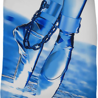 Dance baby dance! BDSM ballet dancer in blue tones, fetish fleece blanket
