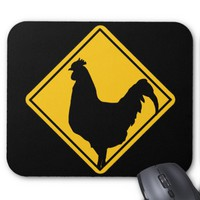 Funny Warning; Cocky! Mouse Pad
