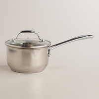 Stainless Steel Mini Saucepan with Tempered Glass Lid - World Market