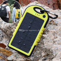 Solar power Charger and Battery waterproof shockproof Dust-proof portable power bank
