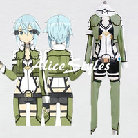 Sword Art Online II Phantom Bullet Sinon Cosplay Costume Halloween Cosplay Custom made