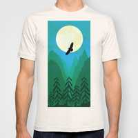 Minimalist hawk T-shirt by Tony Vazquez