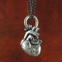 Handmade Gifts | Independent Design | Vintage Goods Anatomical Heart Necklace - Small - Geek Chic