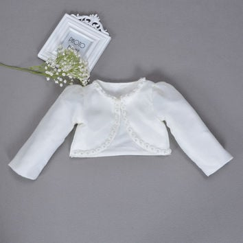 Baby Girl Jackets Cardigan Shrug Sweater For 1 Years Old Baby Clothes Shrug for Bridesmaids/Flower Girls Wedding Party ABC165002