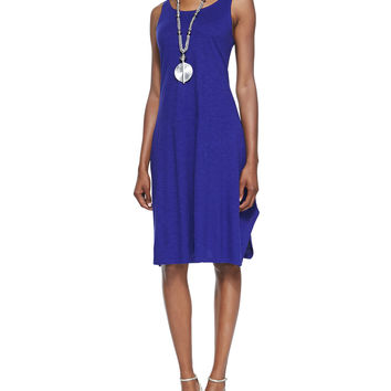 Organic Cotton/Hemp Twist Sleeveless Dress, Petite, Size:
