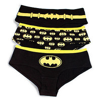 Batgirl Glow-in-the-Dark Hipster Panties, 3 Pack
