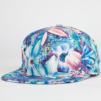 Tropic Floral Womens Snapback Hat Blue Combo One Size For Women 23466124901