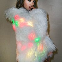 J Valentine Flashing Lights Midi Jacket Multi-Lights One