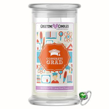 Congratulations Graduate Jewelry Greeting Candle