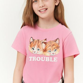 Girls Trouble Graphic Tee (Kids)