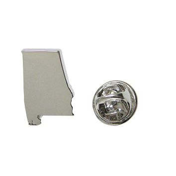 Alabama State Map Shape Lapel Pin