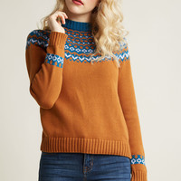 Cozy Sweater with Intarsia Design