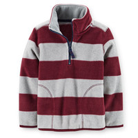 Microfleece Striped Pullover