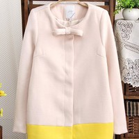 New Autumn & Winter Contrast Color Woolen Overcoat,Cheap in Wendybox.com