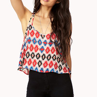 Southwestern Flared Crop Top | FOREVER 21 - 2000129290