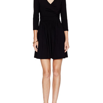 Susana Monaco Women's Emma Wrap Front Dress - Black -
