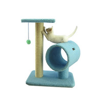 "Armarkat 26"""" Wooden Step Pet Cat Tower Tree Condo Scratcher Furniture Play Kitten House Sky Blue"