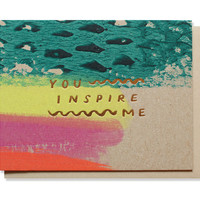 you inspire me card