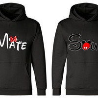 Matching Couples Hoodies Disney Soul Mate Two Hoodies for 49.99 Add LastName or Date for a perfect love gift