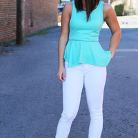Party Peplum {Mint}