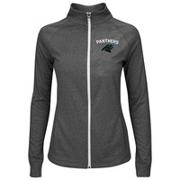 Majestic Carolina Panthers Count The Wins Full-Zip Fleece - Women's, Size: