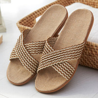 Summer Comfortable Linen Slipper Unisex Sandals