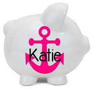 Nautical Personalized Piggy Bank