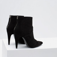 HIGH HEEL ROCKER ANKLE BOOTS