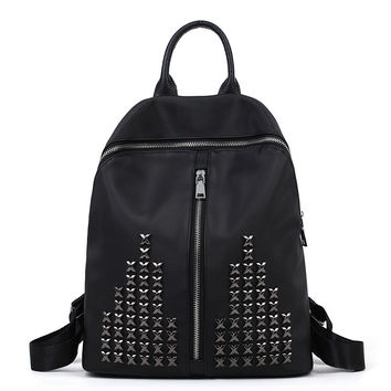 On Sale Hot Deal College Comfort Back To School Casual Stylish Rivet Bags Travel Backpack [4982892612]