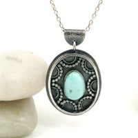 Turquoise Sterling Silver Necklace - Tapestry