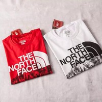 The north face fire snow mountain series short sleeved T-shirt