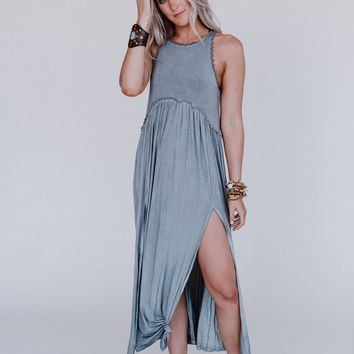 Daisy Chain Maxi Dress - Gray