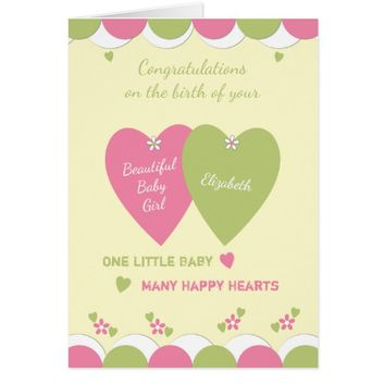 New Baby Girl Greetings Card congratulations