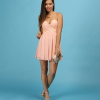 Sale-blush Sequined Heartthrob Dress