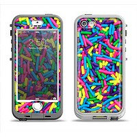 The Neon Sprinkles Apple iPhone 5-5s LifeProof Nuud Case Skin Set