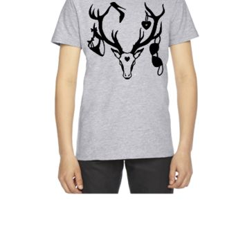 18 deer bachelor party fun funny love stag nigh Unisex Tank - Youth T-shirt