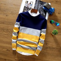 Men's Striped Fashion Pullover