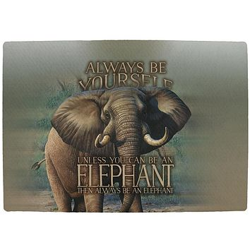 Always Be Yourself Unless Elephant All Over Indoor Mat