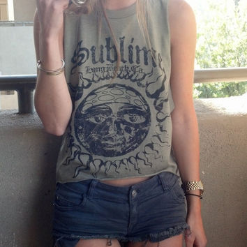 Sublime Cut Me Up Size Small Muscle Tank Top