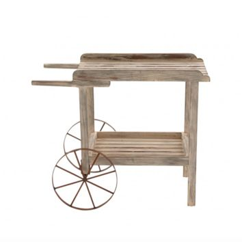 Wooden Wagon Wheel Cart