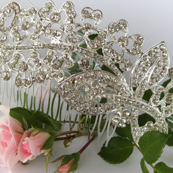"""Crystal Bridal Hair Comb """"Special Girl"""", Wedding Hair Pieces, Rhinestone Combs, Wedding Hair Accessories, Bridal Headpieces, Jewelry"""