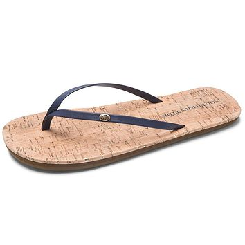 Women's Promenade Cork Flip Flop in Nautical Navy by Southern Tide - FINAL SALE