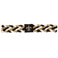 New Orleans Saints NFL Braided Head Band 6 Braid