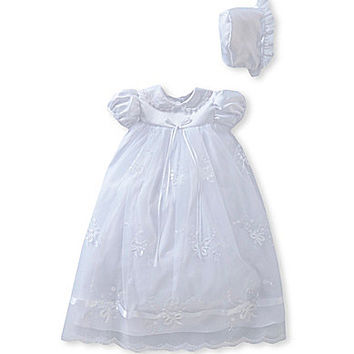 Edgehill Collection Ribbon Newborn-9 Months Christening Dress | Dillards.com