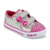 Skechers Twinkle Toes Shuffles Sweet Steps Light-Up Shoes - Toddler Girls (Yellow)