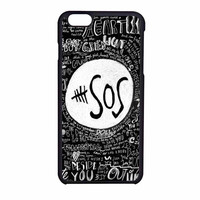 5Sos Logo And Lyrics The Music Band iPhone 6 Case