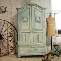 Painted Cottage Chic Shabby Aqua Romantic by paintedcottages