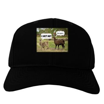 Angry Standing Llamas Adult Dark Baseball Cap Hat by TooLoud